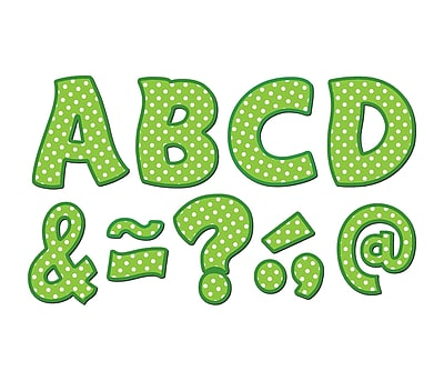 Teacher Created Resources Lime Polka Dots Fantastic Font 3