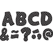 """Teacher Created Resources Black Polka Dots Fantastic Font 3"""" Magnetic Letters, 67 Pieces (TCR77216)"""