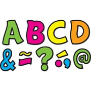 "Teacher Created Resources Neon Brights Fantastic Font 3"" Magnetic Letters, 67 Pieces (TCR77217)"