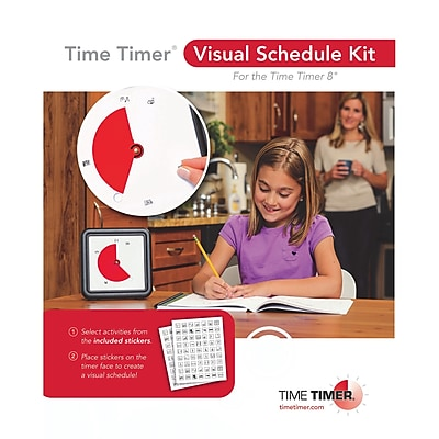 Time Timer® Visual Schedule Kit, 2 pack (TTMVSK11)