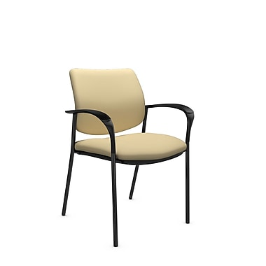 Global® (6900 IM70) Sidero Guest & Reception Chair, Imprint Almond Fabric, Tan