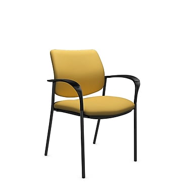 Global® (6900 IM73) Sidero Guest & Reception Chair, Imprint Currie Fabric, Yellow