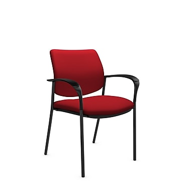 Global® (6900 IM74) Sidero Guest & Reception Chair, Imprint Candy Apple Fabric, Red