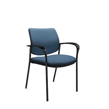 Global® (6900 IM75) Sidero Guest & Reception Chair, Imprint Ocean Fabric, Blue