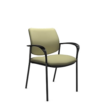 Global® (6900 IM77) Sidero Guest & Reception Chair, Imprint Green Tea Fabric, Green