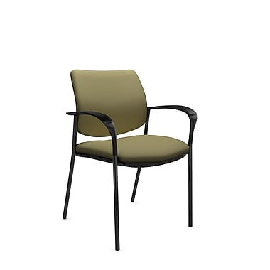 Global® (6900 IM79) Sidero Guest & Reception Chair, Imprint Oregano Fabric, Green