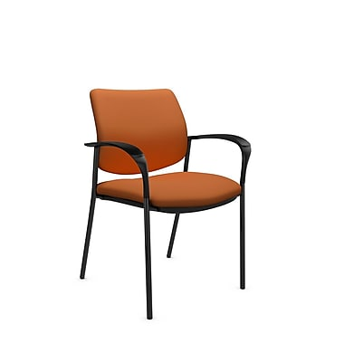 Global® (6900 IM81) Sidero Guest & Reception Chair, Imprint Paprika Fabric, Orange