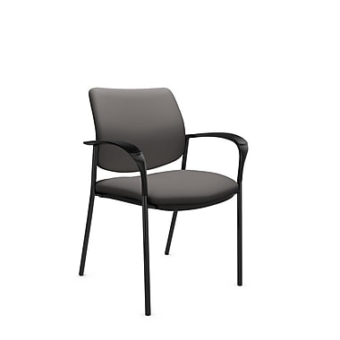 Global® (6900 IM82) Sidero Guest & Reception Chair, Imprint Graphite Fabric, Grey