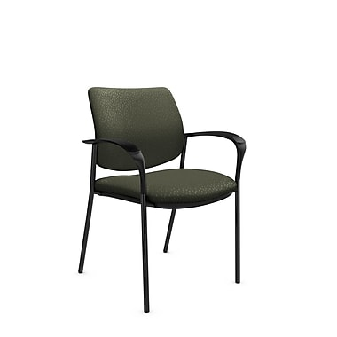 Global® (6900 MT22) Sidero Guest & Reception Chair, Match Moss Fabric, Green