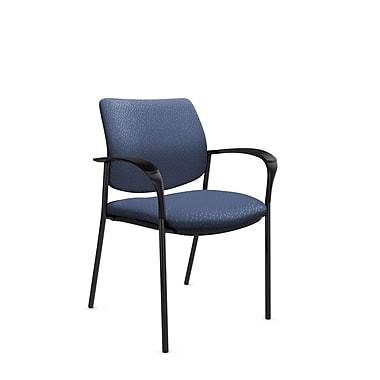 GlobalMD – Fauteuil d'invité et de réception Sidero (6900 MT25), tissu assorti bleu, bleu