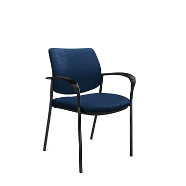 Global® (6900 MT26) Sidero Guest & Reception Chair, Match Wave Fabric, Blue