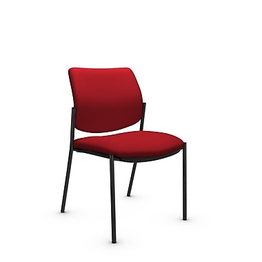 Global® (6901 IM74) Sidero Armless Guest & Reception Chair, Imprint Candy Apple Fabric, Red