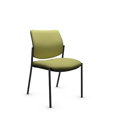 Global® (6901 IM78) Sidero Armless Guest & Reception Chair, Imprint Celery Fabric, Green
