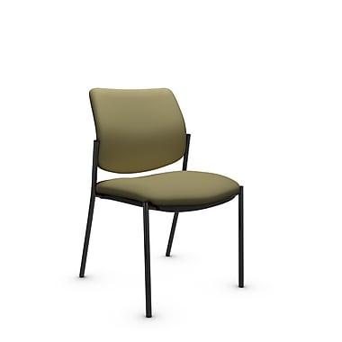 GlobalMD – Fauteuil d'invité et de réception Sidero sans accoudoirs (6901 IM79), tissu Imprint origan, vert