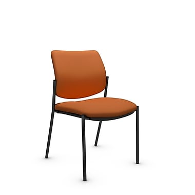 Global® (6901 IM81) Sidero Armless Guest & Reception Chair, Imprint Paprika Fabric, Orange