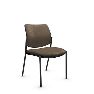 GlobalMD – Fauteuil d'invité et de réception Sidero sans accoudoirs (6901 MT21), tissu Match sable, brun