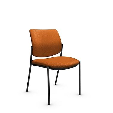 GlobalMD – Chaise d'invité et de réception sans accoudoirs Sidero (6901 MT23), tissu assorti orange, orange