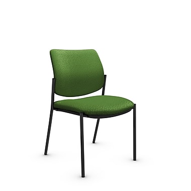 Global® (6901 MT27) Sidero Armless Guest & Reception Chair, Match Green Fabric, Green