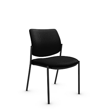 Global® (6901 MT32) Sidero Armless Guest & Reception Chair, Match Black Fabric, Black
