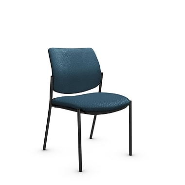 Global® (6901 MT33) Sidero Armless Guest & Reception Chair, Match Arctic Fabric, Blue