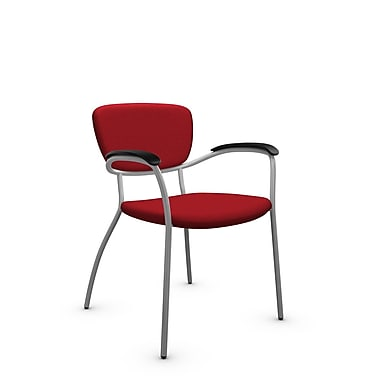 Global® (3365 IM74) Caprice Guest & Reception Chair, Imprint Candy Apple Fabric, Red
