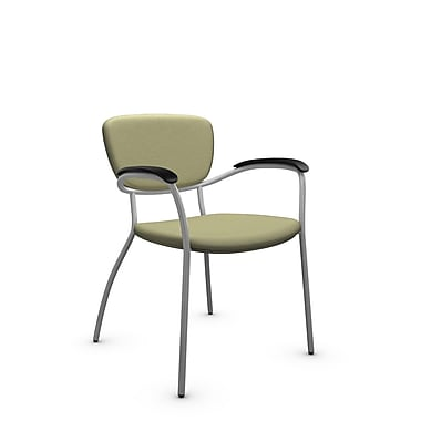 Global® (3365 IM77) Caprice Guest & Reception Chair, Imprint Green Tea Fabric, Green