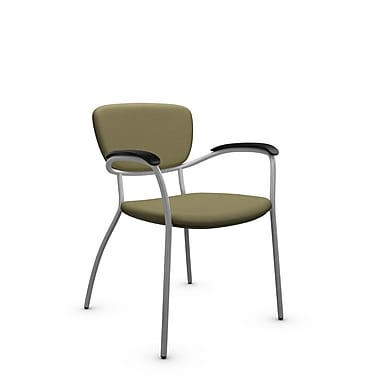 Global® (3365 IM79) Caprice Guest & Reception Chair, Imprint Oregano Fabric, Green