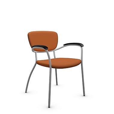 Global® (3365 IM81) Caprice Guest & Reception Chair, Imprint Paprika Fabric, Orange