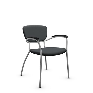 Global® (3365 IM82) Caprice Guest & Reception Chair, Imprint Graphite Fabric, Grey