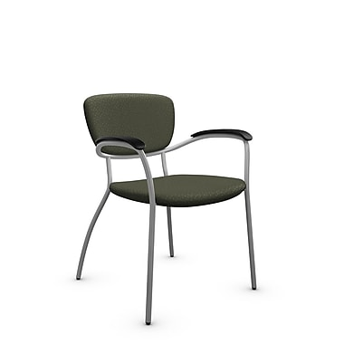 Global® (3365 MT22) Caprice Guest & Reception Chair, Match Moss Fabric, Green