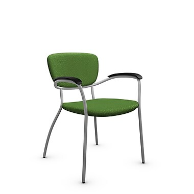 Global® (3365 MT27) Caprice Guest & Reception Chair, Match Green Fabric, Green