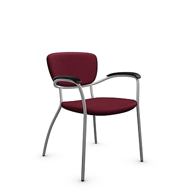 Global® (3365 MT29) Caprice Guest & Reception Chair, Match Burgundy Fabric, Red