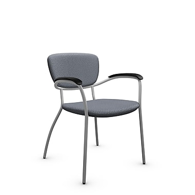 Global® (3365 MT30) Caprice Guest & Reception Chair, Match Grey Fabric, Grey