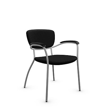 Global® (3365 MT32) Caprice Guest & Reception Chair, Match Black Fabric, Black