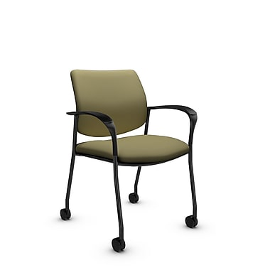 Global® (6900C IM79) Sidero with Casters Guest & Reception Chair, Imprint Oregano Fabric, Green