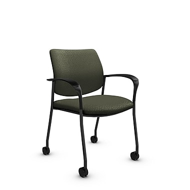 Global® (6900C MT22) Sidero with Casters Guest & Reception Chair, Match Moss Fabric, Green
