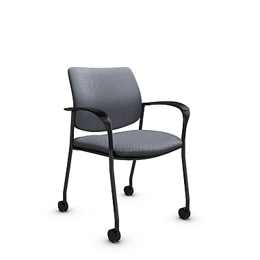 Global® (6900C MT30) Sidero with Casters Guest & Reception Chair, Match Grey Fabric, Grey