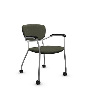 Global® (3365C MT22) Caprice with Casters Guest & Reception Chair, Match Moss Fabric, Green