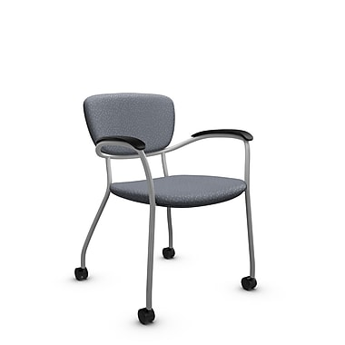 Global® (3365C MT30) Caprice with Casters Guest & Reception Chair, Match Grey Fabric, Grey