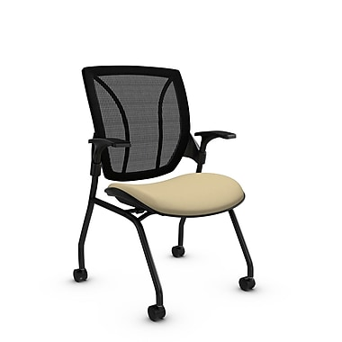 Global® (1899 IM70 MB) Roma Mesh Guest & Reception Chair, Imprint Almond Fabric, Tan