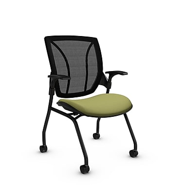 Global® (1899 IM78 MB) Roma Mesh Guest & Reception Chair, Imprint Celery Fabric, Green