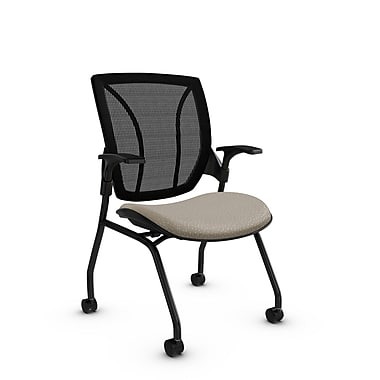 Global® (1899 MT20 MB) Roma Mesh Guest & Reception Chair, Match Desert Fabric