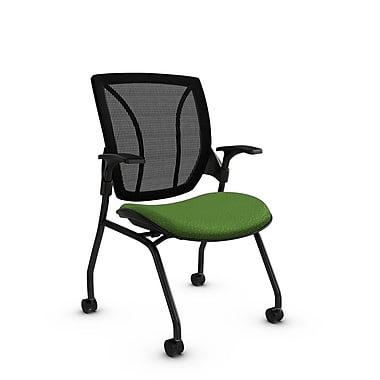 Global® (1899 MT27 MB) Roma Mesh Guest & Reception Chair, Match Green Fabric, Green