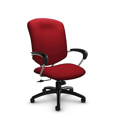 Global® (5330-4 IM74) Supra High Back Tilter Office Chair, Imprint Candy Apple Fabric, Red