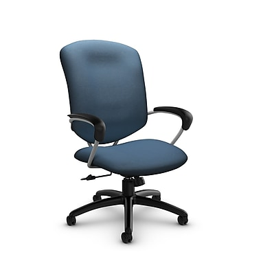 Global® (5330-4 IM75) Supra High Back Tilter Office Chair, Imprint Ocean Fabric, Blue