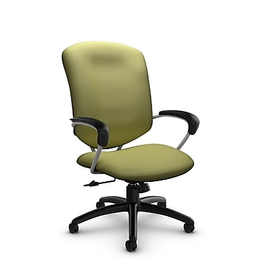 Global – Chaise de bureau basculante à dossier haut Supra (5330-4 IM78), tissu Imprint céleri, vert