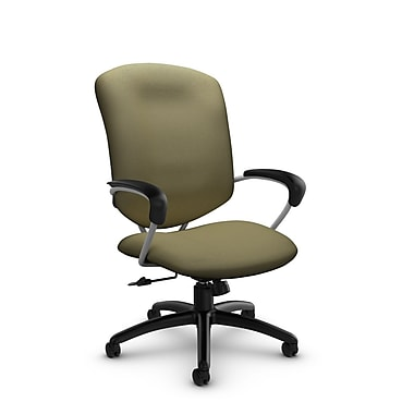 Global® (5330-4 IM79) Supra High Back Tilter Office Chair, Imprint Oregano Fabric, Green