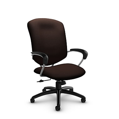 Global® (5330-4 IM80) Supra High Back Tilter Office Chair, Imprint Walnut Fabric, Brown