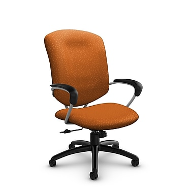 Global® (5330-4 MT23) Supra High Back Tilter Office Chair, Match Orange Fabric, Orange
