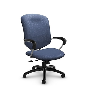 Global® (5330-4 MT25) Supra High Back Tilter Office Chair, Match Blue Fabric, Blue